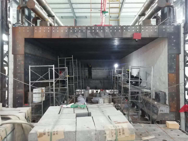 我公司近期福建某钢厂陶瓷纤维模块安装